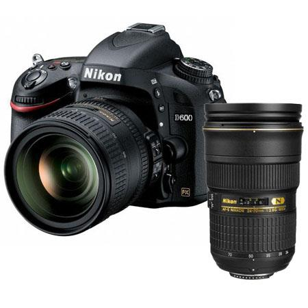 Nikon D600 Digital SLR Camera Kit with Nikon 24-85mm f/3.5-4.5G ED AF-S VR USA - Bundle - with Nikon 24-70mm f/2.8G ED-IF AF-S Nikkor Lens USA