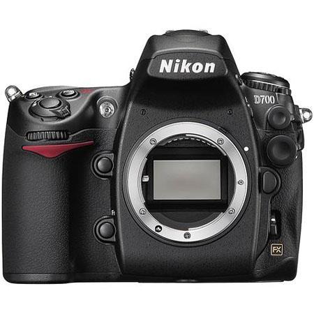 Nikon D700 Digital SLR Camera Body, 12.1 Megapixel, 0.72x Zoom, FX Format, CMOS Image Sensor image