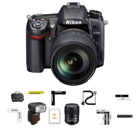 Adorama CSI Advanced Photo Kit with Nikon D7000 DSLR Camera, 18-105mm DX VR Lens, Nikon 60mm f/2.8G AF-S Micro Nikkor AF ED Lens, Nikon SB-910 TTL AF Shoe Mount