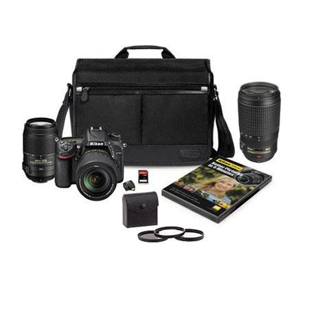 Nikon D7100 DSLR Camera with 18-140mm DX ED VR Lens & 55-300mm ED VR Lens and Nikon Accessory Pack - BUNDLE - with 70-300mm VR Lens and 67mm 3-Piece Filter Kit