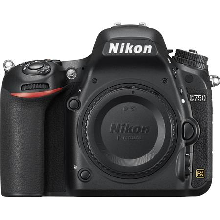 "Nikon D750 FX-Format Digital SLR Body Only Camera, 24.3MP, 3.2"" LCD Display, HDMI/USB 2.0, Built-in Wi-Fi/Microphone"