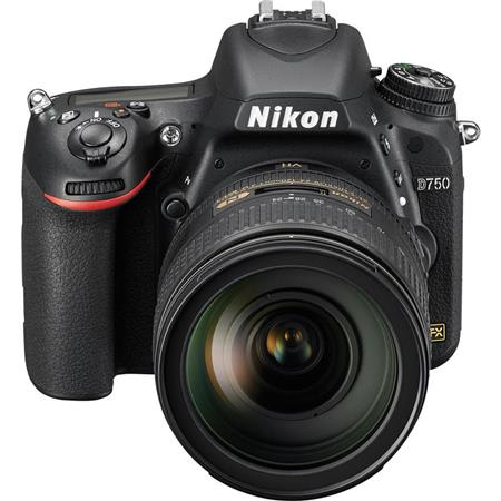 "Nikon D750 FX-Format Digital SLR Camera with AF-S NIKKOR 24-120mm f/4G ED VR Lens, 24.3MP, 3.2"" LCD Display, HDMI/USB 2.0, Built-in Wi-Fi/Microphone"