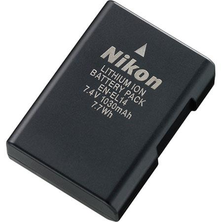 Nikon EN-EL14 Rechargeable Li-Ion Battery for Nikon D3100 DSLR, D3200 DSLR, D5100 DSLR, P7000 and P7700 Digital Cameras