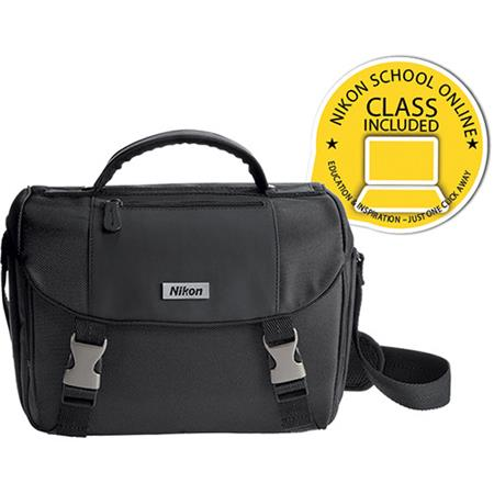 "Nikon D-SLR Camera Bag with Nikon ""Fast, Fun & Easy 5"" Great Digital Pictures Dual Pack DVD Set image"