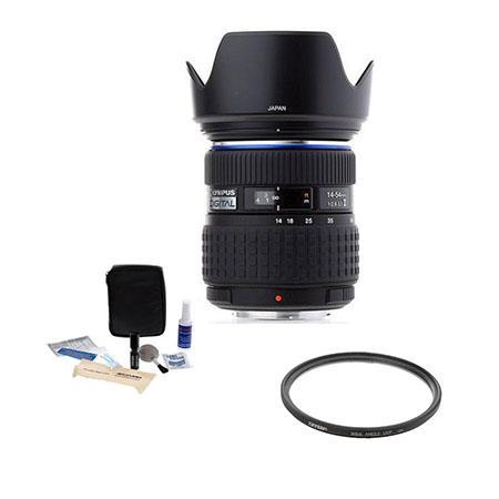 Olympus 14-54mm f/2.8-3.5 II Zuiko ED Digital SLR Zoom Lens Kit, with Tiffen 67mm UV Wide Angle Filter, Digital Camera & Lens Cleaning Kit