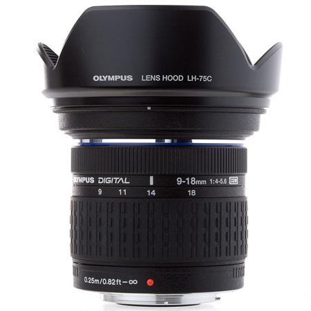 Olympus Zuiko 9-18mm f/4.0-5.6 E-ED Digital Zoom Lens for E Series DSLRs - (Four Thirds System)