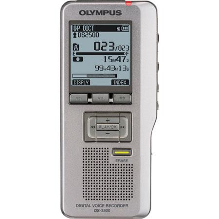 Olympus DS-2500 Digital Voice Recorder, DS2 Recording Format, SD Card Recording Using Up to 32GB Card