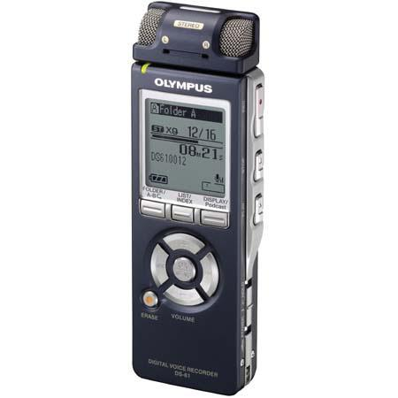 Olympus DS-61 Digital Voice Recorder with 2 GB Built-in Memory, Record Up to 530 Hours image