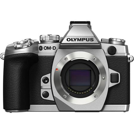 Olympus OMD E-M1 Mirrorless Micro Four Thirds Camera Body Only, Silver, USB Tethering, 16.8MP, 3