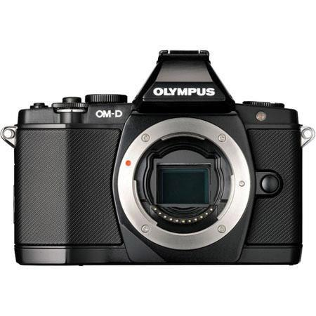"Olympus OM-D E-M5 Digital Camera Body, 16 Megapixel, Image Stabilization, 3"" Tilting OLED Display, Full 1080 HD Video, Black"