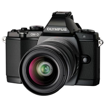 Olympus OM-D E-M5 Mirrorless Digital Camera - Black - with M.Zuiko Digital 14-42mm II R Lens