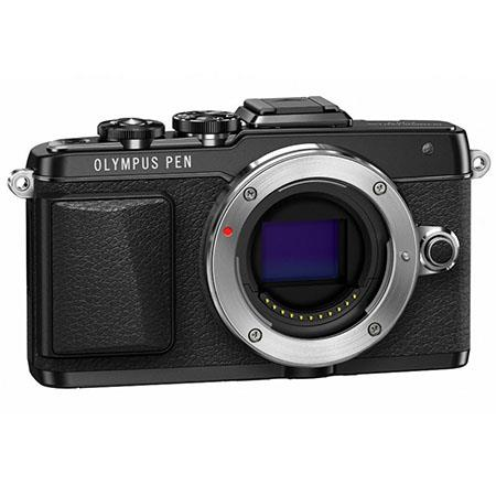 Olympus E-PL7 Mirrorless Digital Camera Body, 16MP, 3-Axis Stabilization, Selfie GUI, WiFi, OI Share, 8 fps Sequential Shooting, Full HD 1080p Video, Black