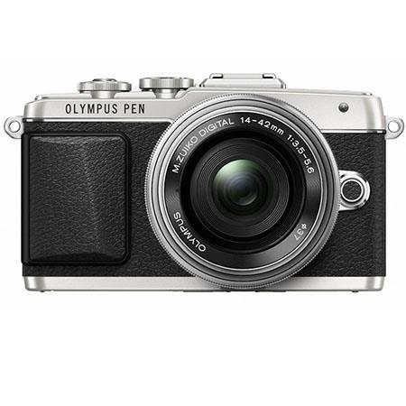 Olympus E-PL7 Mirrorless Digital Camera with 14-42mm 2R Lens, 16MP, 3-Axis Stabilization, Selfie GUI, WiFi, OI Share, 8 fps Sequential Shooting, Full HD 1080p Video, Silver