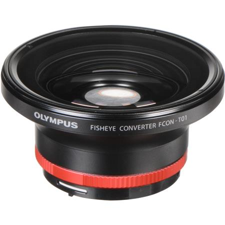 Olympus FCON-T01 Fisheye Converter Lens for TG-1, TG-2 & TG-3 iHS Cameras with CLA-T01 Adapter Ring (IOMCLAT01)