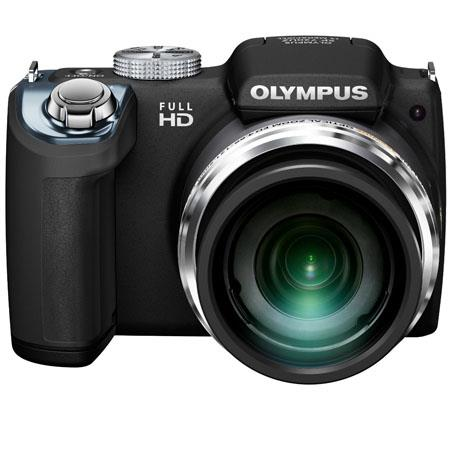 "Olympus SP-720UZ Digital Camera, 14 MP, CMOS Sensor, 26x Optical + 4x Digital Zoom, 3"" LCD 460K Dots, 1080p Full HD Video, Black"