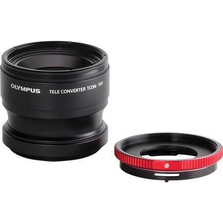 Olympus TCON-T01 Teleconverter for TG-1, TG-2 & TG-3 iHS Cameras with CLA-T01 Adapter ring (IOMCLAT01)