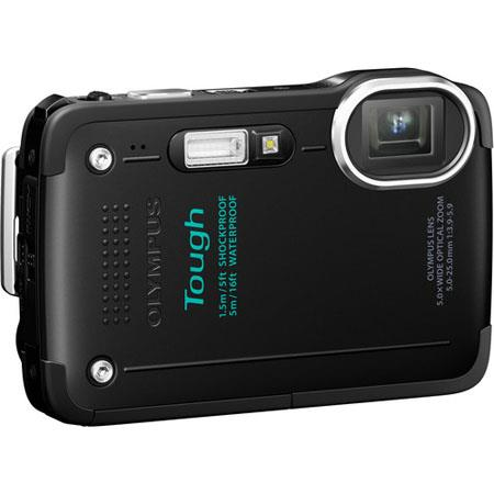"Olympus TG-630 iHS Digital Camera, 12 MP, BSI CMOS Sensor, 5x Optical + 2x Super Resolution + 4x Digital Zoom, 3"" LCD, 1080p Full HD Video, Black"