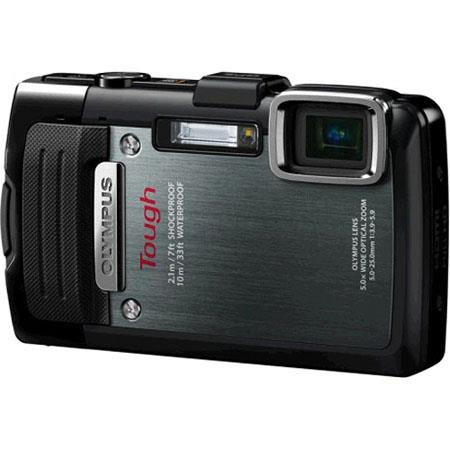 "Olympus TG-830 iHS Digital Camera, 16 MP, BSI CMOS Sensor, 5x Optical + 2x Super Resolution + 4x Digital Zoom, 3"" LCD, 1080p Full HD Video, Black"