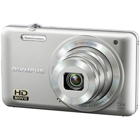 "Olympus VG-160 14MP Digital Camera with 5x Optical/4x Digital Zoom, 3.0"" LCD Monitor, HD Video, Silver"