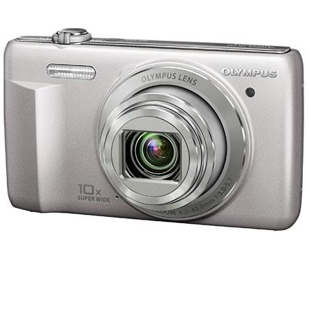 "Olympus VR-340 16MP Digital Camera, 10x Optical/4x Digital Zoom, 3.0"" LCD Monitor, 720p HD Video, Silver"
