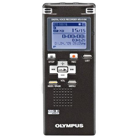 Olympus WS-510M Digital Voice Recorder with 4 GB Built-in Flash Memory, Record Up to 1,088 Hours in LP Mode, Gray image