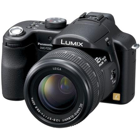 Panasonic Lumix DMC-FZ50K Digital SLR Camera, 10.4 MP, 12x Optical, 4x Digital Zoom, MEGA Optical Image Stabilizer, Black image