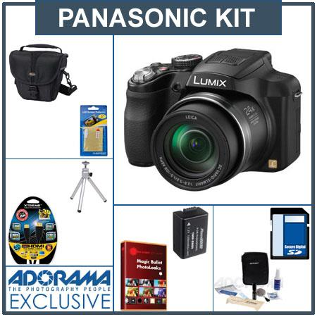 Panasonic Lumix DMC-FZ60 16 Megapixel Digital Camera, Leica DC Vario-Elmarit 24x Zoom Lens - Bundle - with Panasonic 16GB SDHC Memory Card, Lowepro Rezo TLZ-10
