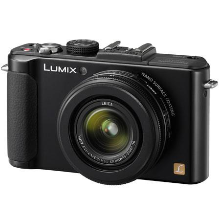 Panasonic Lumix DMC-LX7 10.1 Megapixels Digital Camera with 3.8x24mm Wide-Angle Leica Optical Zoom Lens, 9 FPS High Speed Continuous Shooting, Black