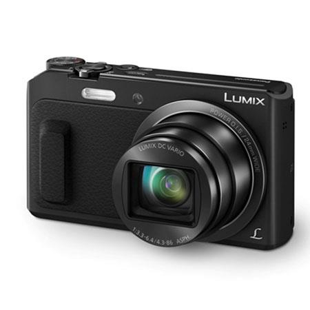 """Panasonic Lumix DMC-ZS45 20X Zoom Digital Camera with Wink-Activated Selfie, 16MP, 3"""" LCD Display, Full HD 1080p Video, Built-In Wi-Fi/Panorama/GPS, Black"""