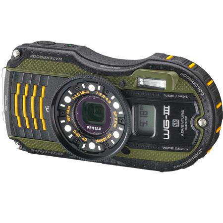 Pentax WG-3 GPS - 16 Megapixel, Waterproof, Dust/Cold/Shock-Proof Digital Camera, Green