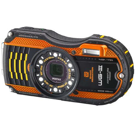 Pentax WG-3 - 16 Megapixel, Waterproof, Dust/Cold/Shock-Proof Digital Camera, Orange