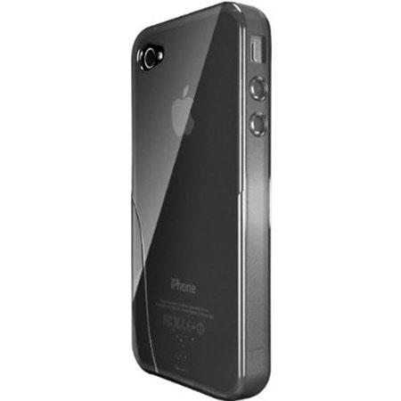 iSkin Solo TPU Silicone Case for iPhone 4/4S, Black