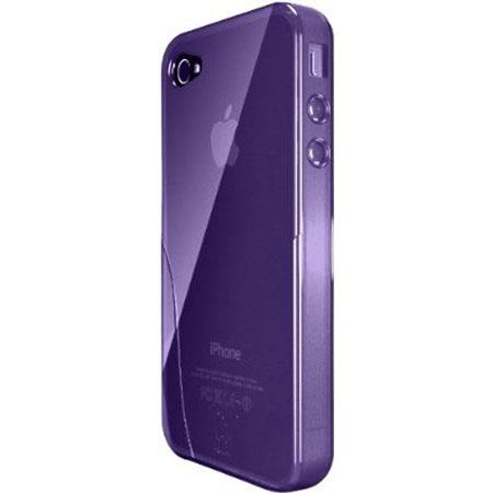 iSkin Solo TPU Silicone Case for iPhone 4/4S, Purple