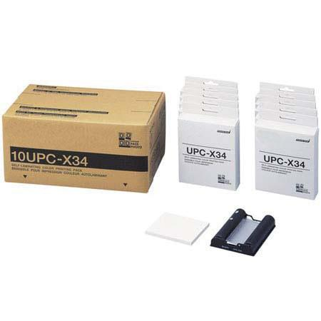 "DNP 10UPC-X34 3.5x4"" Self-Laminating Color Printing Pack for the Sony UPX-C100 & UPX-C200 Digital Printing System"