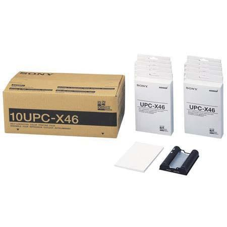 "DNP 10UPC-X46 4x6"" Self-Laminating Color Printing Pack for the Sony UPX-C100 & UPX-C200 Digital Printing System"