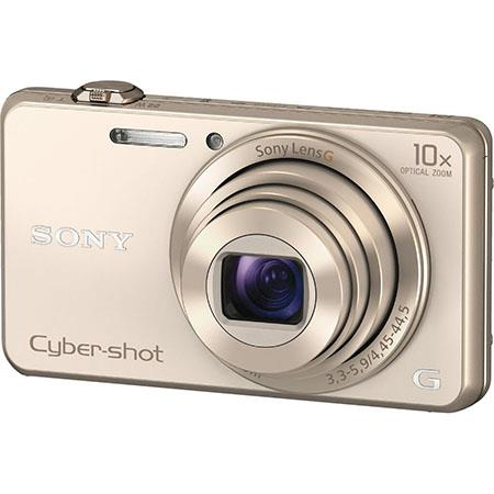 Sony Cyber-shot DSC-WX220 Digital Camera, Gold, 18.2MP Exmor R, 10x Optical Zoom, 1080p Full HD Movie, Wi-Fi, NFC, Sweep Panorama