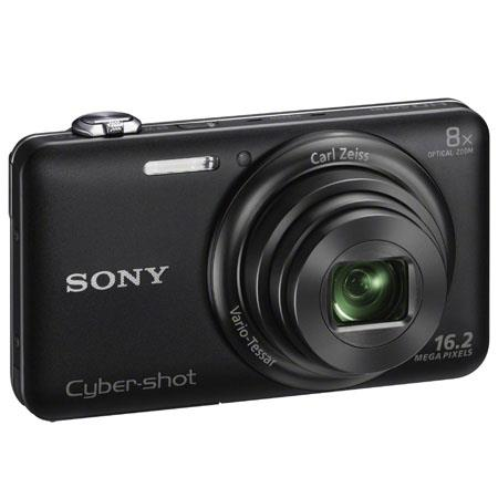 Sony Cyber-shot DSC-WX80 Digital Camera, Black, 16.2 Megapixel, Carl Zeiss 8x Optical Zoom Lens, Full HD Video, WiFi Sharing, HDMI