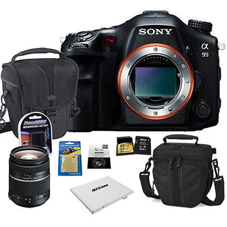 Sony SLT-A99V Digital SLR Camera Body, Black - BUNDLE - with 28-75mm f/2.8 SAM a (Alpha) Mount Lens, 32GB 200x SDHC Memory Card, Camera Case