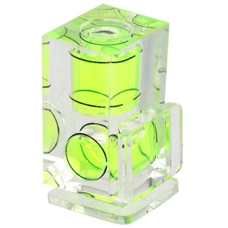 Jobu Design Dual-Axis Clear Bubble Level with Easy See Green Fluid.