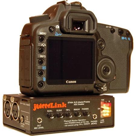 JuicedLink DT454 4 Channel DSLR Preamp / Meter / Phantom / AGC Disabler image