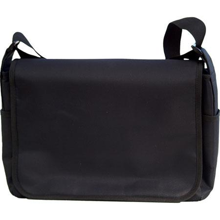 Jill-e Basic Black Messenger-Style Day Bag - Black
