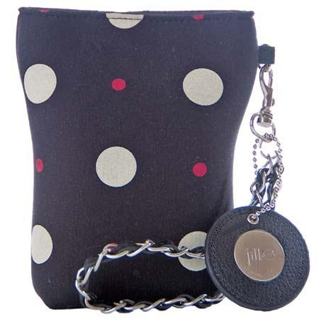"Jill.e Neoprene Pouch for Full Sized ""Point-n-Shoot"" Cameras, Cream Dots image"