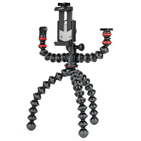 Joby GorillaPod Mobile Rig for Smartphones, Lights and Camera, Black/Charcoal/Red