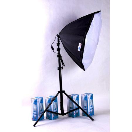 JTL Fluorescent Light High-Power Portrait Kit I, with 4 Tube Light, Stand & Softbox, 200 watts