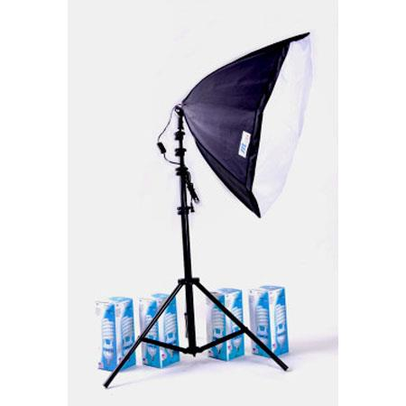 JTL Fluorescent Light High-Power Portrait Kit II, with 4 Tube Light, Stand & Softbox, 340 watts