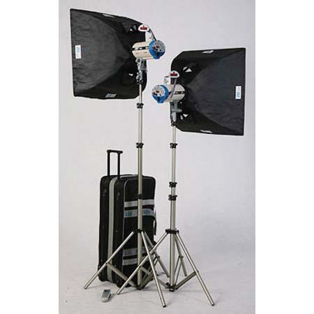 JTL DL-360 Versalight Soft Box Kit with 2 D-180, 180ws Monolights, Light Stands, Soft Boxes & Wheeled Carry Case