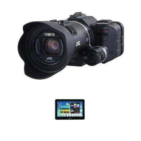 JVC GC-PX100 Full HD Everio Camcorder - BUNDLE - with Samsung Galaxy Tab 3 10.1 Android 4.0 Tablet