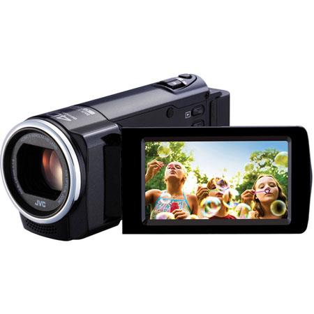 "JVC GZ-E10 1.5MP High Definition Memory Camcorder, 1/5.8"" CMOS, 40x Optical/70x Dynamic/200x Digital Zoom, Black"