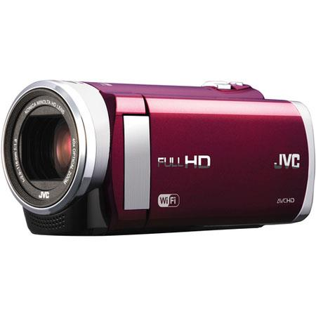 "JVC GZ-EX210 Full HD Everio Camcorder, 1.5MP, Konica Minolta HD F1.8 Lens, 1/5.8"" CMOS Sensor, 40x Optical/200x Digital Zoom, 3.0"" LCD, WiFi, Red"