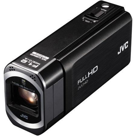 "JVC GZ-V500 Full HD Everio Camcorder, 3.3MP, HD F1.2, 32.8mm Wide Lens, 1/4.1"" CMOS Sensor, 10x Optical/200x Digital Zoom, 3.5"" LCD, Black"